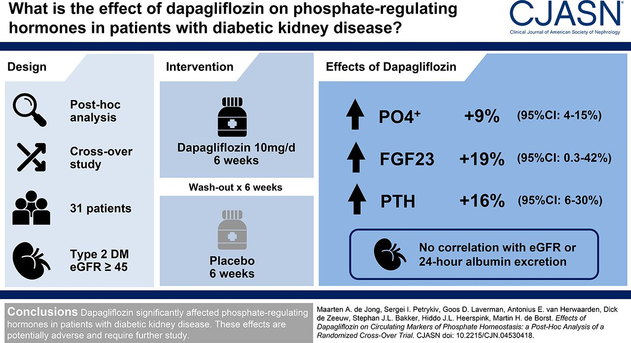 Effects of Dapagliflozin on Circulating Markers of Phosphate