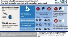 Reproducibility of Deceased Donor Kidney Procurement Biopsies