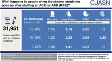 Association of Acute Increases in Plasma Creatinine after Renin-Angiotensin Blockade with Subsequent Outcomes
