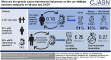 Genetic and Environmental Influences on the Correlations between Traits of Metabolic Syndrome and CKD