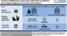 Dialysis Provider and Outcomes among United States Veterans Who Transition to Dialysis