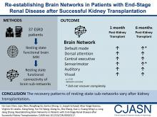 Re-Establishing Brain Networks in Patients with ESRD after Successful Kidney Transplantation