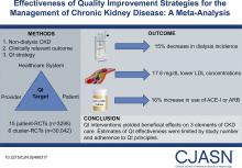 Effectiveness of Quality Improvement Strategies for the Management of CKD