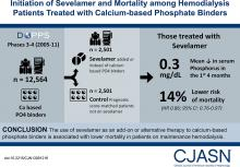 Initiation of Sevelamer and Mortality among Hemodialysis Patients Treated with Calcium-Based Phosphate Binders