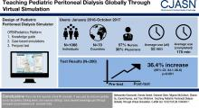 Teaching Pediatric Peritoneal Dialysis Globally through Virtual Simulation