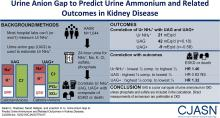 Urine Anion Gap to Predict Urine Ammonium and Related Outcomes in Kidney Disease