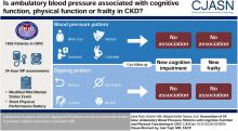 Association of 24-Hour Ambulatory Blood Pressure Patterns with Cognitive Function and Physical Functioning in CKD