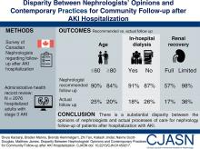 Disparity between Nephrologists' Opinions and Contemporary Practices for Community Follow-Up after AKI Hospitalization