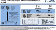 Proteomic Analysis of Urinary Microvesicles and Exosomes in Medullary Sponge Kidney Disease and Autosomal Dominant Polycystic Kidney Disease