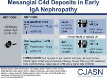 Mesangial C4d Deposits in Early IgA Nephropathy