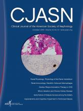 Clinical Journal of the American Society of Nephrology: 10 (10)