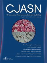Clinical Journal of the American Society of Nephrology: 10 (5)