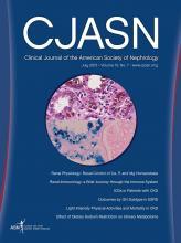 Clinical Journal of the American Society of Nephrology: 10 (7)