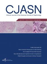 Clinical Journal of the American Society of Nephrology: 13 (4)