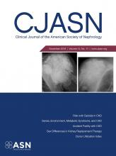 Clinical Journal of the American Society of Nephrology: 14 (11)