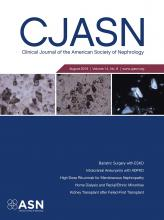 Clinical Journal of the American Society of Nephrology: 14 (8)