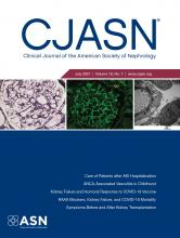 Clinical Journal of the American Society of Nephrology: 16 (7)
