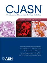 Clinical Journal of the American Society of Nephrology: 16 (8)