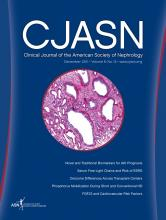 Clinical Journal of the American Society of Nephrology: 6 (12)