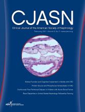 Clinical Journal of the American Society of Nephrology: 6 (2)