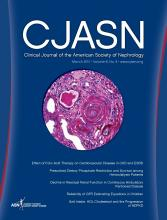 Clinical Journal of the American Society of Nephrology: 6 (3)