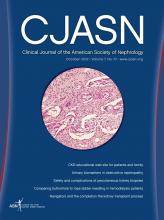 Clinical Journal of the American Society of Nephrology: 7 (10)