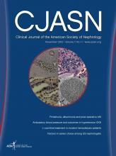 Clinical Journal of the American Society of Nephrology: 7 (11)