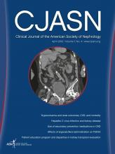 Clinical Journal of the American Society of Nephrology: 7 (4)