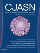 Clinical Journal of the American Society of Nephrology: 7 (9)