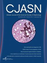 Clinical Journal of the American Society of Nephrology: 8 (11)