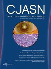 Clinical Journal of the American Society of Nephrology: 9 (11)