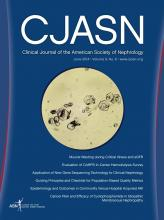 Clinical Journal of the American Society of Nephrology: 9 (6)