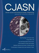 Clinical Journal of the American Society of Nephrology: 9 (9)